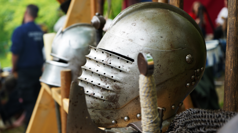 Knight Game - Slightly Corroded Medieval Helmet