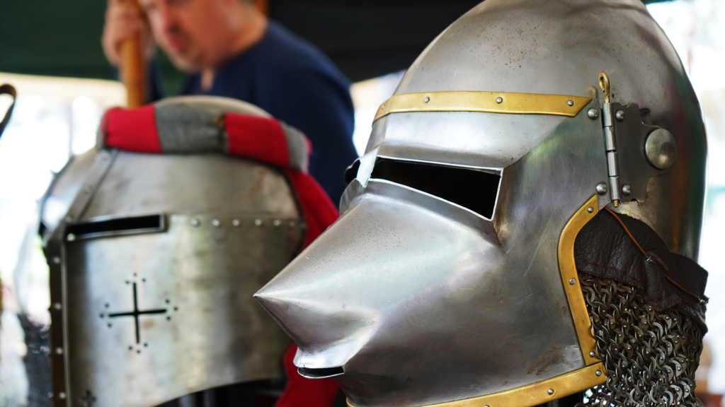 Knight Game - Clean Knight Helmet From Metal