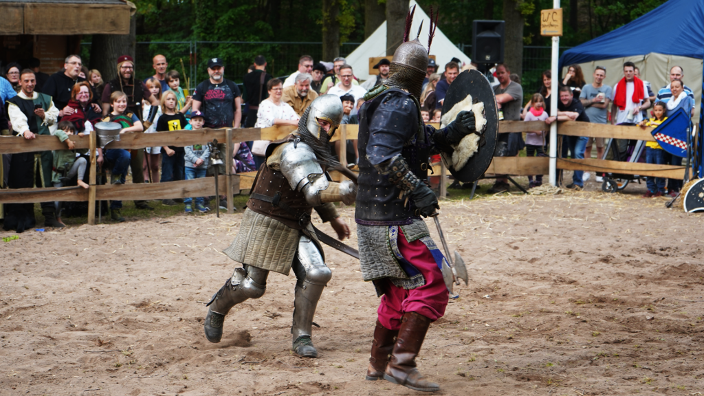 Knight Game - Two knights in a show battle.